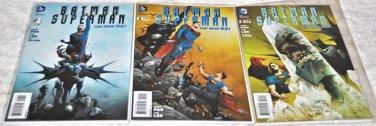 Batman / Superman 2013 Series #'s 1, 2, 3 All 1rst Prints
