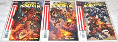 Iron Man: House of M 2005 Limited Series Three-Issue Lot