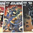 G.I. Joe #1 2013 IDW Series Covers A, B, and Arthur Adams Baroness Sub