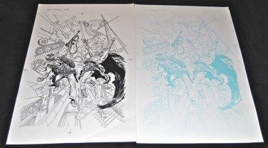 "Rock of Easy #1 Original Artwork by  Joe Kubert with ""proof page"""