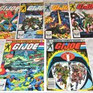 G. I. Joe, A Real American Hero 1, 2, 3, 4, 5, 6 1982 Series