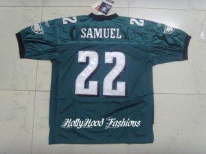 Asante Samuel Authentic Eagles Home Jersey