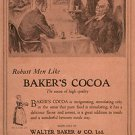 1924 Baker&#39;s Cocoa Vintage Ad 6x9