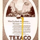 1924 Texaco @Yosemite Vintage Ad 6x9