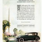 1924 Lincoln Phaeton vintage Color Ad 6x9