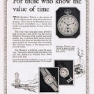 1924 Hamilton Watches Vintage Ad 6x9