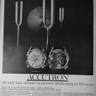 1961 Accutron Watches Vintage Ad 10x14