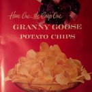 1961 Granny Goose Potato Chips Vintage Ad 10x14