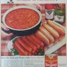 1960 Van Camp Beans&#39; n&#39; weiners Vintage Ad 10x14