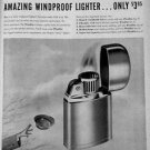 1954 Ronson Windproof Lighter Vintage Ad 10x14