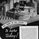 1935 Fortune Floor of the Future Vintage Ad 10x14