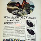 1935 Goodyear things happen Vintage Ad 10x14