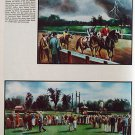 1935 Fortune Saratoga Races II - painting vintage Print 10x14