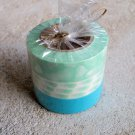 Japanese Washi Masking Tape set of 3 Sweetheart Series - Aqua Mint Hearts