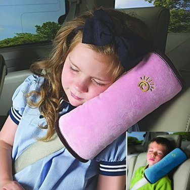 Car Seat Lap-belt Case Shoulder Pillow Guard Pad Sleep Cushion Safety for Kids/Adults