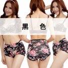 Bamboo Fiber Floral High-waist Panties Printing Flowers Ladies Underwear Womens Lingerie VIP096