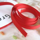 3/8 Inch Wide Red Grosgrain Ribbon Trim 5 Yards