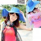 Floppy Derby Hat Wide Large Brim Summer Beach Straw Sun Hat