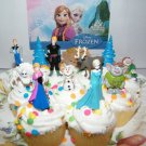 Disney Frozen Movie Figure Deluxe Cake Toppers Party favors Decoration Set of 12