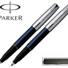 Set of two (2) Parker Frontier Translucent Blue Steel Cap Rollerball Pen