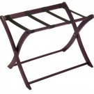 Winsome Folding Wood Luggage Rack, Classic Hotel Suitcase Stand, Espresso