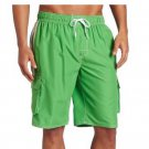 Green Size 2X Kanu Surf Mens Barracuda Extended Size Trunk - Free Shipping in USA