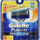 Gillette Fusion Proglide Manual Razor Blade Refills for Men 8 Count - Free shipping in USA
