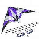 """Purple 71"""" Delta Stunt Kite Dual Line Large Wing Span Prism Delta Outdoor Flying - Free Shipping"""