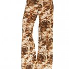 Tiger Women's Casual Stretch Pants Wide Leg Long Bohemian Loose Palazzo Trousers Free Ship