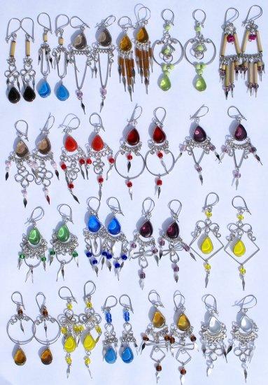 Lot 10 Pairs of Alpaca Murano Earrings