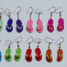 10 Pairs Color Peruvian Earrings Beach Footwear Fashion