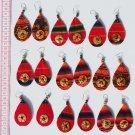 9 Pairs Dangle Red Ethnic Ornament Tribal Earrings Peru