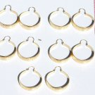 5 Pairs Hoop Earrings Yellow Costume Fashion Jewelry