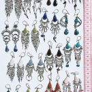 10 Pairs Handmade Earrings Peruvian Color Piedra Stones