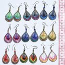 9 Pairs Color Peruvian Thread Woven Handmade Earrings