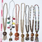 5 Necklaces Seed Beading Coconut Peru Jewelry Wholesale