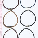 3 Leather Choker Necklaces Costume Jewelry in Fashion