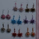8 Pairs Color Earrings With Murano Glass / Seeds Plants