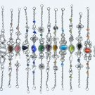 Lot 10 metal bracelets color murano glass pearl jewelry