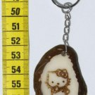 Key Chain Hello Kitty Picture, Tagua Nut Art for Childs