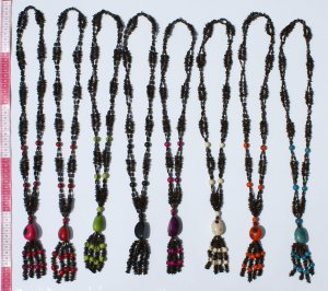 4 Brown Seed Bead Necklaces Artisan HandCrafted Jewelry