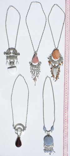 5 Necklaces with Natural Peruvian Semi Precious Stones