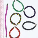 6 Leather Woven Color Bracelets Jewelry Wholesale Peru