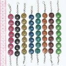 6 Color Metal Link Coin Bracelets with Animal Figuras
