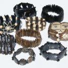 8 Coconut Tropical Seeds Beaded Bracelets Jewelry Peru