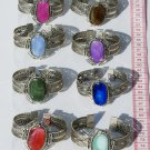 8 Cuff Bangle Bracelets Natural Agate Gem Stones Peru