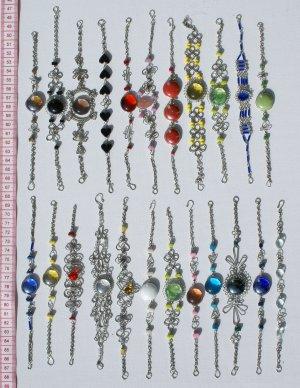 9 Link Bracelets Murano Glass Costume Jewelry Wholesale