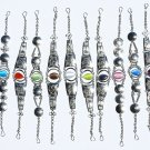 10 Metal Bracelets Cat Eye Stones Jewelry Art Wholesale