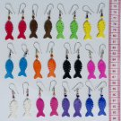 12 Pairs Earrings Color Tropical Fish Ornament Jewelry