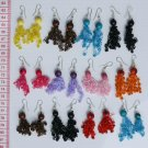 8 Pairs Seed Earrings Peruvian Thread Pearl Jewelry Art